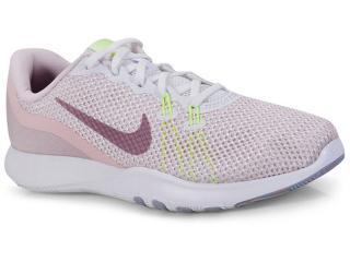 Tênis Feminino Nike 898479-104 Wmns Flex Trainer 7 Rosa Claro/branco - Tamanho Médio