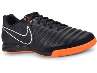 Tênis Masculino Nike Ah7244-080 Tiempo Legendx Academy ic  Preto/laranja - Tamanho Médio