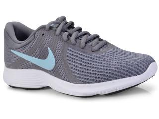 Tênis Feminino Nike 908999-004 Wmns Revolution 4 Cinza/azul - Tamanho Médio