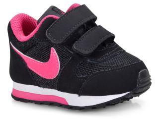 Tênis Fem Infantil Nike 807328-006 md Runner 2 Preto/pink - Tamanho Médio