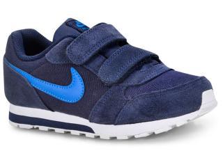 Tênis Masc Infantil Nike 807317-410 md Runner 2 Marinho azul ad7f45a9993