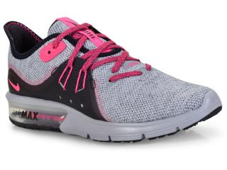 Tênis Feminino Nike 908993-015 Wmns Air Max Sequent 3 Cinza pink preto d01e443368f