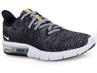 Tênis Feminino Nike 908993-011 Wmns Air Max Sequent 3 Preto/branco - Tamanho Médio