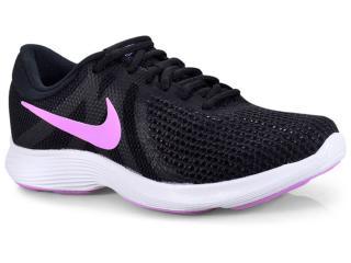 193f7736b991e Tênis Feminino Nike 908999-011 Wmns Revolution 4 Preto lilas