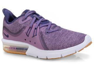 Tênis Feminino Nike 908993-501 Wmns Air Max Sequent 3 Roxo/branco - Tamanho Médio