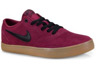 Tênis Masculino Nike 843895-601 sb Check Solar Skateboarding Vermelho/preto - Tamanho Médio