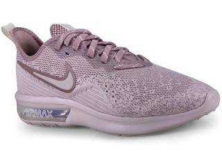 3e0fcd2dbf0 Tênis Feminino Nike Ao4486-600 Air Max Sequent 4 Rosa Claro