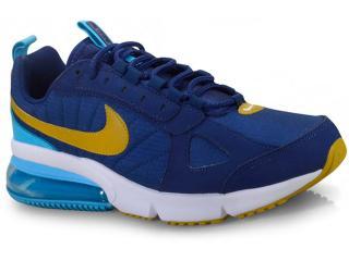 Tênis Masculino Nike Ao1569-400 Air Max 270 Futura Azul/mostarda - Tamanho Médio