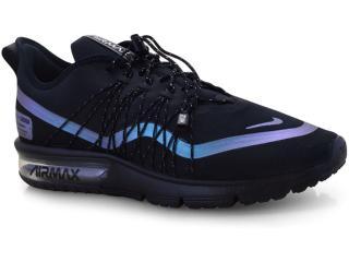Tênis Masculino Nike Av3236-005 Air Max Sequent 4 Utility Preto/azul - Tamanho Médio