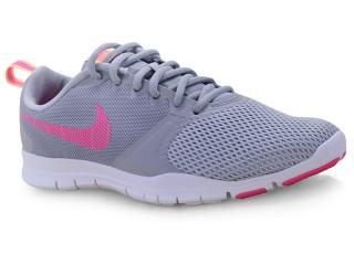 Tênis Feminino Nike 924344-008 Wmns Flex Essential Training Shoe Cinza/rosa - Tamanho Médio