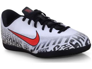 Tênis Masc Infantil Nike Av4763-170 jr Vapor 12 Club ic Branco/preto/vermelho - Tamanho Médio