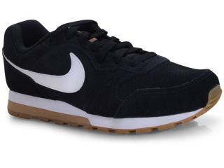 Tênis Masculino Nike Aq9211-001 md Runner 2 Suede Preto/branco - Tamanho Médio