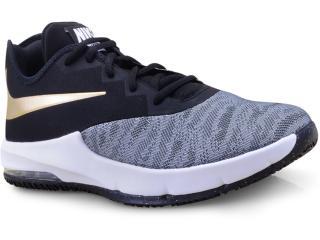 Tênis Masculino Nike Aj5898-002 Air Max Infuriate Iii Low Cinza/preto/dourado - Tamanho Médio