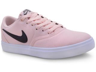Tênis Feminino Nike 921463-602 sb Check Solar Soft Canvas Pêssego/branco/grafite - Tamanho Médio
