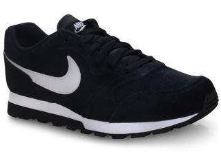 Tênis Masculino Nike Aq9211-004 md Runner 2 Suede Preto/branco - Tamanho Médio