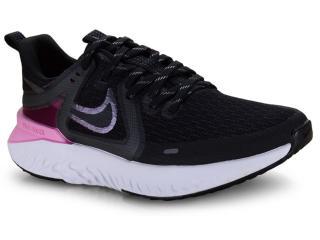 Tênis Feminino Nike At1369-004  Legend React Preto/rosa - Tamanho Médio