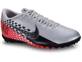 Tênis Masculino Nike At7995-006 Vapor 13 Academy Njr Preto/vermelho/prata - Tamanho Médio
