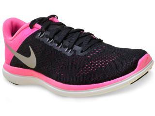 Tênis Feminino Nike 830751-006 Flex 2016 rn Preto/pink - Tamanho Médio