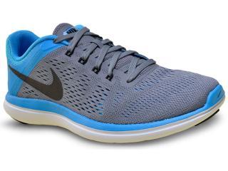 Tênis Feminino Nike 830751-007 Flex 2016 rn  Cinza/azul - Tamanho Médio