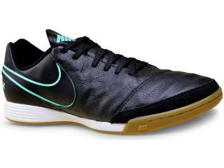 Tênis Masculino Nike 819215-004 Tiempo Genio ii Leather ic  Preto/turquesa - Tamanho Médio