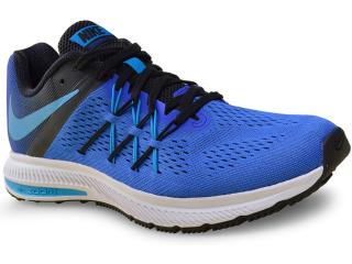 Tênis Masculino Nike 831561-401 Air Zoom Winflo 3  Azul/preto - Tamanho Médio