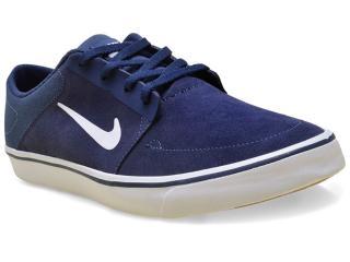 Tênis Masculino Nike 725027-413 sb Portmore  Marinho/branco - Tamanho Médio