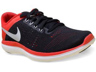 Tênis Masculino Nike 830369-006 Flex 2016 rn  Preto/vermelho - Tamanho Médio