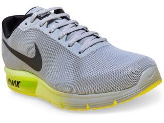 Tênis Masculino Nike 719912-013 Air Max Sequent Cinza/preto/limão - Tamanho Médio