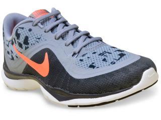 Tênis Feminino Nike 831578-002 Flex Trainer 6 Print Grafite/cinza - Tamanho Médio