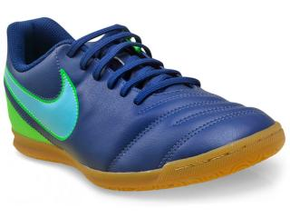 Tênis Masculino Nike 819234-443 Tiempo Rio Iii ic Azul/verde - Tamanho Médio