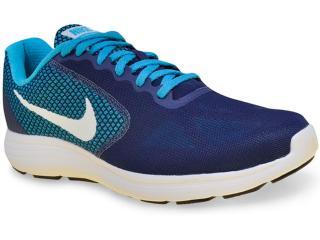 Tênis Masculino Nike 819300-405 Revolution 3 Azul - Tamanho Médio
