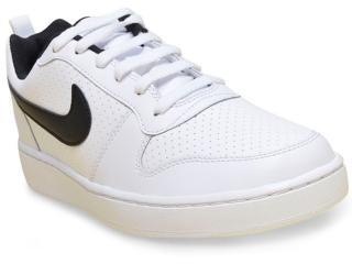 6ce02376efe Tênis Masculino Nike 838937-100 Court Borough Low Branco preto