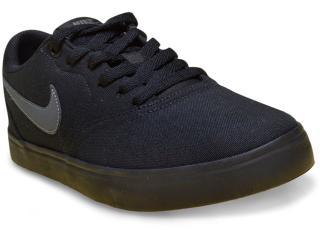 Tênis Masculino Nike 843896-002 sb Check Solar Canvas Preto - Tamanho Médio