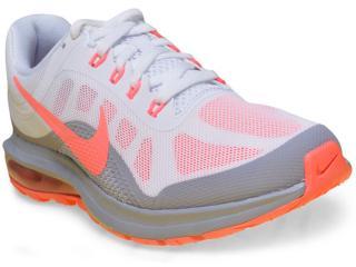 Tênis Feminino Nike 852445-106 Air Max Dynasty 2 Branco/cinza/coral - Tamanho Médio