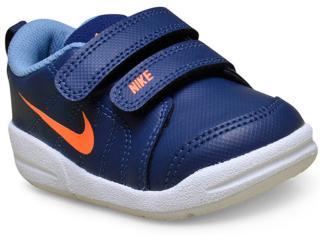 eb998303601 Tênis Masc Infantil Nike 619042-410 Pico lt Marinho laranja
