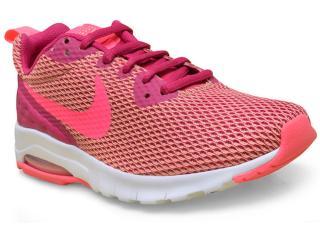 Tênis Feminino Nike 844895-601 Air Max Motion lw  Rosa Neon/roxo - Tamanho Médio