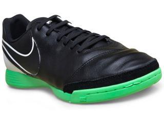 Tênis Masculino Nike 819215-002 Tiempo Genio ii  Preto/verde/branco - Tamanho Médio
