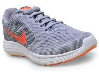 Tênis Feminino Nike 819303-002 Revolution 3 Cinza - Tamanho Médio
