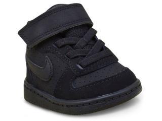 Tênis Masc Infantil Nike 870027-001 Court Borough Mid Tdv  Preto - Tamanho Médio