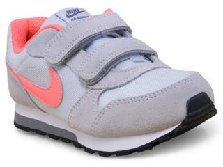 442872d1c Tênis Fem Infantil Nike 807320-007 md Runner 2 Cinza laranja Neon