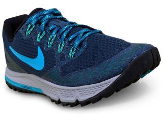 Tênis Masculino Nike 749336-402 Air Zoom Wildhorse 3 Marinho/verde - Tamanho Médio