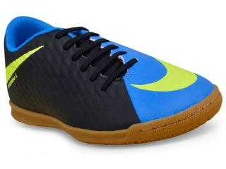 Tênis Masculino Nike 852543-004 Hypervenom Phade Iii Preto/azul/limão - Tamanho Médio