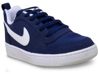 d7bce2ed6d2 Tênis Masc Infantil Nike 839985-400 Court Borough Low Marinho branco