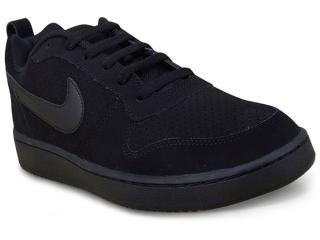 Tênis Masculino Nike  838937-001 Court Borough Low Preto - Tamanho Médio