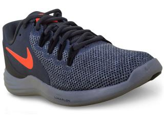 Tênis Masculino Nike  908987-006 Lunar Apparent  Chumbo/laranja - Tamanho Médio