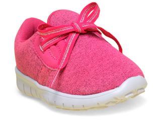 Tênis Feminino Novopé 1001226 Pink/branco - Tamanho Médio