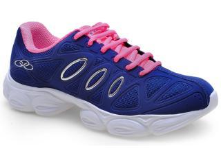 Tênis Feminino Olympikus Strong 923 Cobalto/rosa - Tamanho Médio