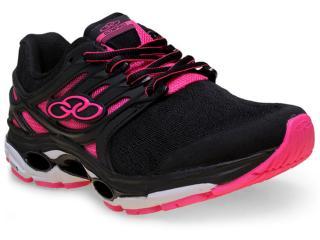 Tênis Feminino Olympikus Sprint 213 Preto/pink - Tamanho Médio