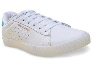 Tênis Masculino Olympikus New Walk  Branco/azul - Tamanho Médio