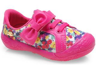 Tênis Fem Infantil Pampili 232.086.8298 Floral/pink - Tamanho Médio